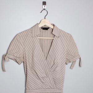 BCBGMaxAzria | Cotton Wrap Dress